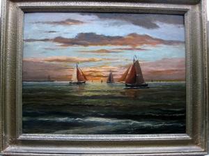 H.A.Jaarsma olieverf schilderij.